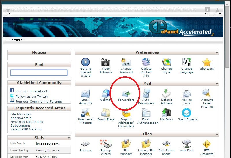 1 cpanel overview